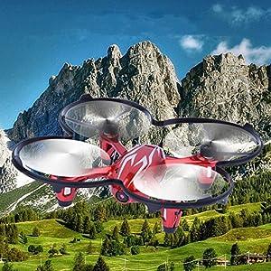 Hubsan H107C X4 Drone 0.3mp Camara Cuadridóptero (Plateado 480P)