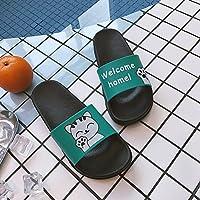 fankou Caricaturas de Verano y Calzado de Playa Salvaje Estudiantes Cool Zapatillas Antideslizantes Zapatos de Mujer Plana 39, Gatos Pequeños y Verde