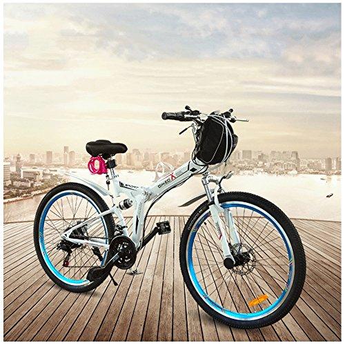 gtyw Electric klappbar Fahrrad Mountain Fahrrad Erwachsene Fahrrad Electric zusammenklappbar Fahrrad Mountain Fahrrad Erwachsene Biker Stecker 350W 48V * 26\