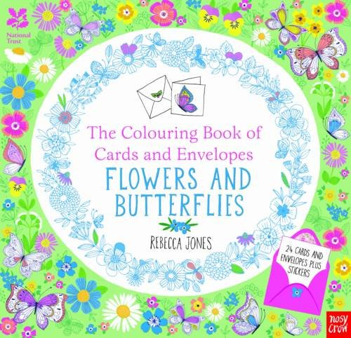 The National Trust: Colouring Cards and Envelopes - Flowers and Butterflies