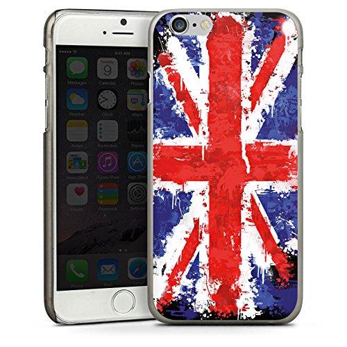 Apple iPhone 4 Housse Étui Silicone Coque Protection Union Jack Angleterre Drapeau CasDur anthracite clair