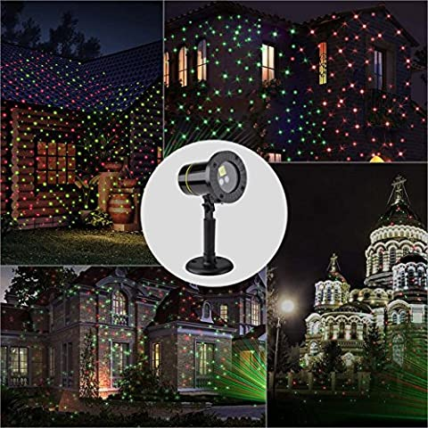 Landscape Lights,Yehard Projector Kits LED Remote Control Spotlights for Christmas Garden Stage Party (Red &
