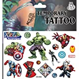 VB© Sheet of Marvel Avengers Assemble - Frozen - Spiderman - Batman - Temporary Tattoos - Passed EU Safety Regulations - Easy to Use - from Very Bazaar (Avengers) by VB