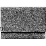 """Filzhülle horizontal für eBook Reader 6"""" aus Wollfilz (100% Schurwolle) grau Handmade von AQ Mobile"""