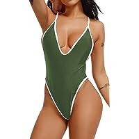 FITTOO Costume da Bagno Donna Bikini Halter Brasiliana Un Pezzo Sexy Monokini Intero Sexy V-Collo Costume Intero…
