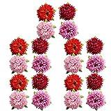 MagiDeal 20 Stück Blumen Köpfe Kunstblumen Blüten Gänseblümchen Künstliche Blumen Hausdeko Hochzeit Deko - gemischt, wie beschrieben