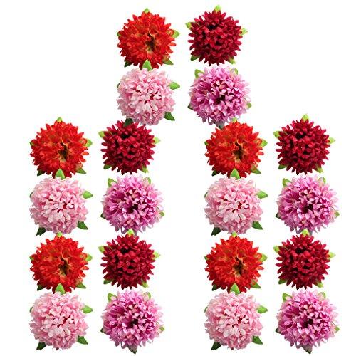 lumen Köpfe Kunstblumen Blüten Gänseblümchen Künstliche Blumen Hausdeko Hochzeit Deko - gemischt, wie beschrieben ()
