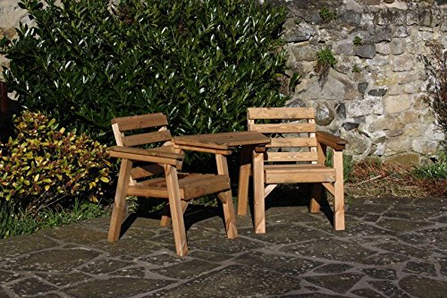 AB Tools Solid Wood Garden Furniture/Patio Set Love Seat/Table Bench