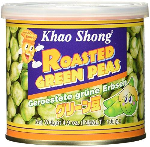 KHAO SHONG Grüne Erbsen, geröstet, 8er Pack (8 x 140 g Dose)