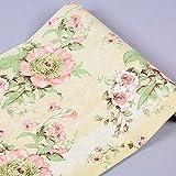 Rollo de papel para la pared autoadhesivo Floral papel de contacto estante maletero para armarios de cocina cajones estantes mesa artes y manualidades