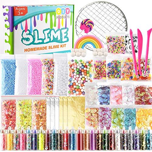 KUUQA 61 Pcs Slime Kit, incluyendo Fishbowl Beads, papel...