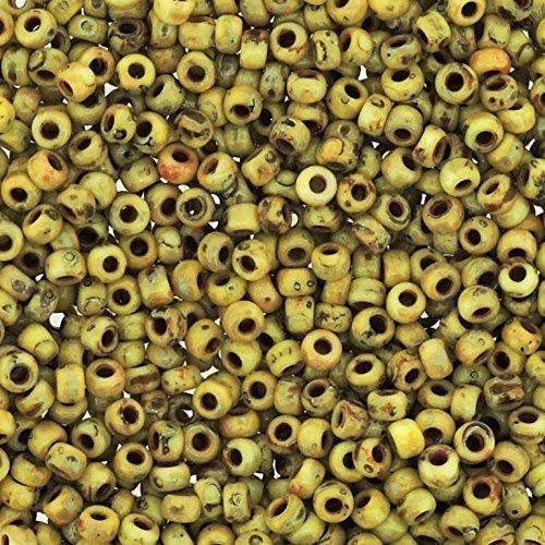 Picasso Jaune canari Mat 22 grammes Miyuki 8/0 Graines de perle 22 gram