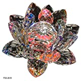 Reiki Crystal Products Vastu / Feng Shui Transparent Crystal Lotus For Positive Energy Gift Item And Good Luck & Brings Prosperity, Success