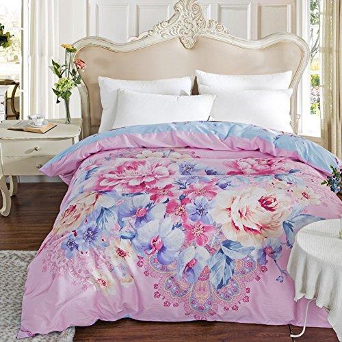 Baumwolle Decke ein Stück Baumwoll Cap Denim quilts Twin-Bettbezug-Q 200x230cm(79x91inch) (Twin-denim-bettwäsche)