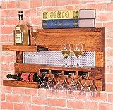 Cdbl-Wand Bücherregal Wein-Rack Massivholz Continental Wein-Racks Wand-Hänge Regal Restaurant Vintage Weinglas Racks Weinhalter Racks Weinhalter Regal