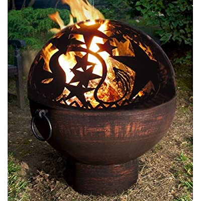 Good Directions Fb-4 26-inch Wrought Iron Fire Bowl With Orion Firedome by Good Directions, Inc.