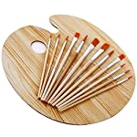 Explore your creative skill Over and Over again with this reusable wooden Palette and panitbrush Set/kit, ideal for any knee painters. Suitable for use with most mediums included oil,water and acyrlic paints, this item will serve you well to get star...