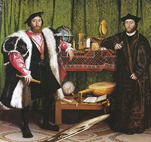 Das Museum Outlet–Die Botschafter. 1533, gespannte Leinwand Galerie verpackt. 40,6x 50,8cm