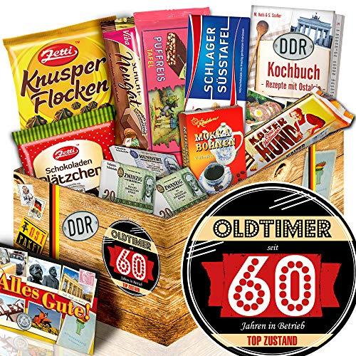 Oldtimer 60 + Geschenke 60 Geburtstag für Mama + Präsentkorb Schokolade DDR