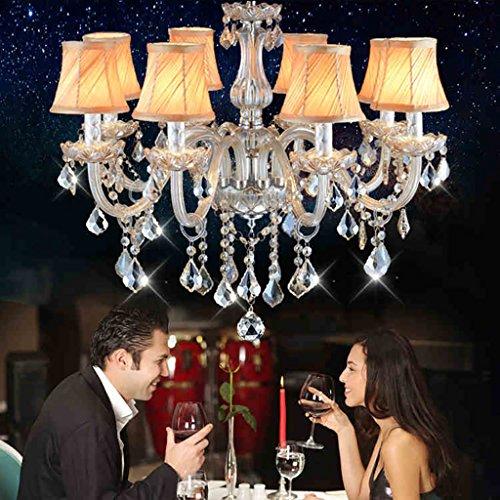 LILSN-lampade lampadario Noble Serie famiglia europea che illuminano il salotto arti lampadario di cristallo lampadario (Art Deco Di Cristallo)