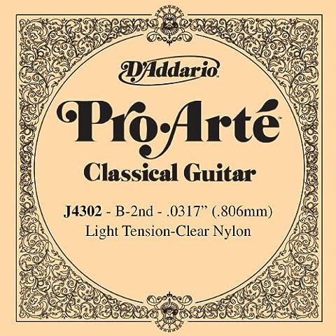 D'Addario J4302 - Cuerda para guitarra clásica de nylon, 2ª cuerda (tensión baja)