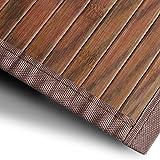Bambusteppich Magenta (Braun) | für Bad und Wohnzimmer | natürlich wohnen mit 100% echtem Bambus | Bambusmatte in vielen Größen (150x200 cm)