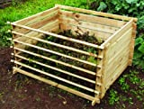 Easy-Load Wooden Compost Bin Composter - Large - 718 Litres