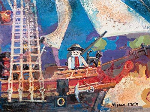 Playmobil Clicks Piratas IV Pintura Original Hecha