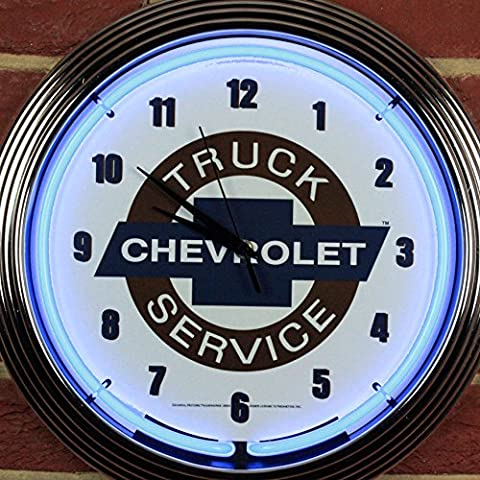 CHEVY TRUCK NEON CLOCK - Real Neon (not LED)