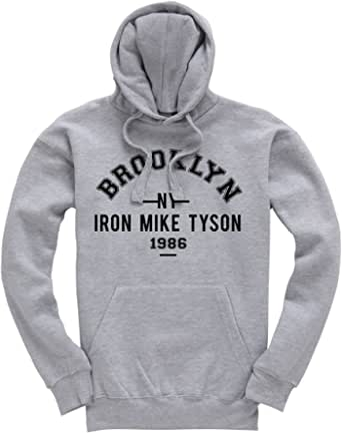 Iron Mike Tyson Brooklyn NY 1986 Boxing Premium Men's Grey Hoodie/Hoody/Hooded Top