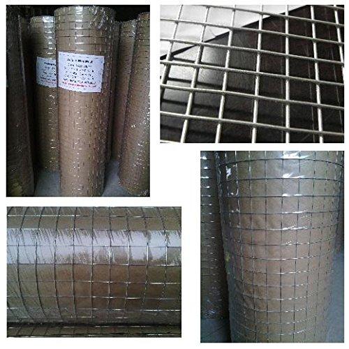 Recinzione a rete metallica saldata galvanizzata, 5,08 cm x (1 (2 2,54 cm x 60,96 cm (24