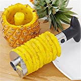 Bulfyss Stainless Steel Fruit Pineapple Corer Slicer Peeler Kitchen Cutter Knife (Black, YSPINEAPPLECUTTER1)