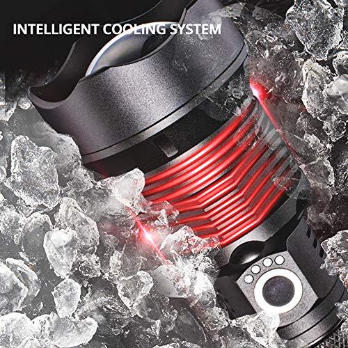 Super Brillante Xhp70Led Linterna Linterna Táctica Antorcha Usb Recargable Uso 18650 Or 26650 Batería Impermeable Zoom Lámpara De Caza