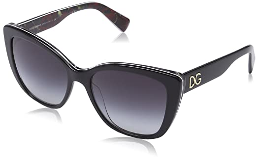 dolce gabbana sunglasses  DOLCE \u0026 GABBANA Women 4216 Sunglasses, black on printing roses ...