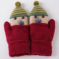 Unbekannt XIAOYAN Handschuhe Kinder Cartoon Handschuhe Herbst und Winter warme Krawatten Hängenden Hals Baby-Handschuhe Bequem