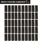 Savage Gear Double Barrel Crimps - 50 Klemmhülsen, Crimps für Stahlvorfächer zum Hechtangeln, Zanderangeln & Barschangeln, Raubfischvorfach bauen, Hülsen für Fluorocarbon Schnur, Durchmesser:1.0mm