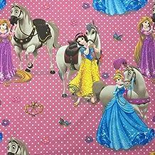 princesas disney rosa u oficial u premium grado cortina hilado fino infantil de algodn