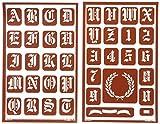 Armour Produkte Kunststoff über 'n' Über wiederverwendbar Schablonen 12,7x 20,3cm 3kg Old English Alphabet