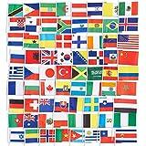 Juvale 72-Pack de país Banderas–Internacional de Banderas del Mundo, Fiesta Decoraciones, 72Diferentes países,, 7,5x 5,2cm