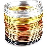 """Creacraft Alambre de Aluminio Artístico """"otoño dorado"""" para Bisutería - 30 Metros (6 Rollos a 5 metros de varios colores)"""