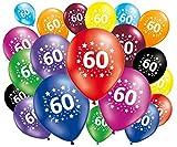 FABSUD 20Stück Luftballons Geburtstag 60Jahre
