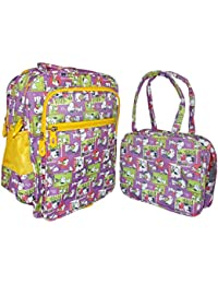 Kotak Sales Cartoon Printed Kids School Bag With Small Hand Bag For Boy & Girl