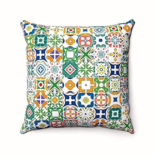 Azulejos Mosaico Español-Fundas de cojín marroquí Arabesco musulmán estilo funda de almohada-decoración...