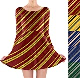 Clothing : Harry Potter Inspired House Stripes Longsleeve Skater Dress