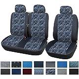 WOLTU 1+2 Housse de siège de camion,siège housse de van,Housses de siège universelle pour van Camion avec tissu,Multicolore,AS7332