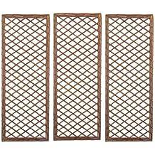 Selections Set of 3 Willow Trellis Framed Panel (120 x 45 Centimeter)