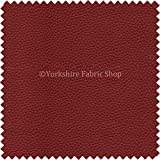 Recycled Eco Genuine Real Leather Hides Cuts Premium Material Upholstery Fabric - Deep Oxblood Red Colour - Not Cow Hides Leathers
