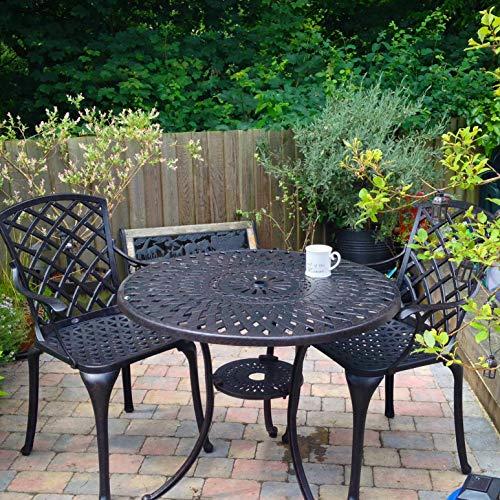 Lazy Susan - MIA 90 cm Gartentisch mit 2 Stühlen