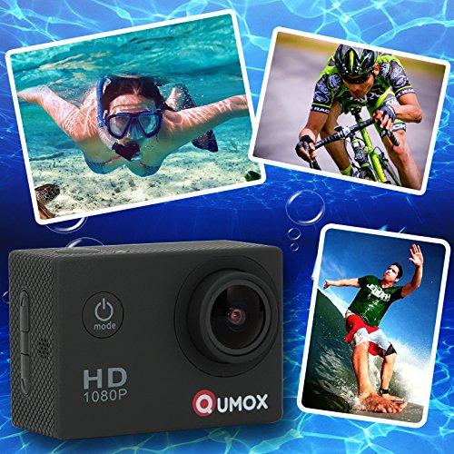 QUMOX SJ4000 - Cámara de Deporte, Video de Alta definición 1080p 720p, Color Negra, Carcasa Impermeable
