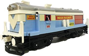 Jack Royal Plastic Locomotive Train (Engine) (CTY-LOCOMOTIVE-TRAIN-CT-121-SKYBLUE, Beige)